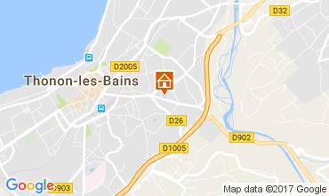 Map Thonon Les Bains Apartment 110536