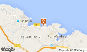 Map Collioure Apartment 68403