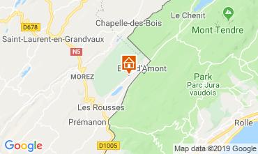 Map Les Rousses Apartment 3758