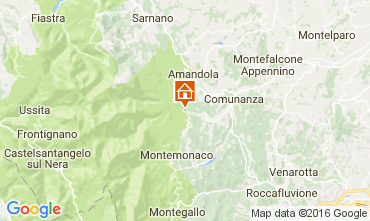 Map Amandola Vacation rental 98624