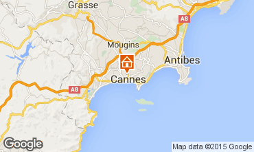 Map Cannes One-room apartment 87329