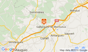 Map Montpellier Vacation rental 103269