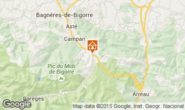 Map La Mongie Apartment 4318