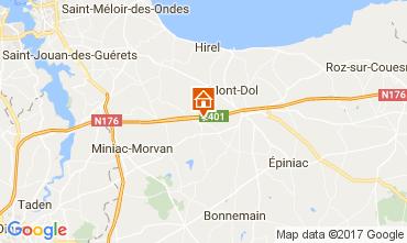 Map Saint Malo Vacation rental 101612