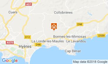 Map La Londe les Maures Villa 98154