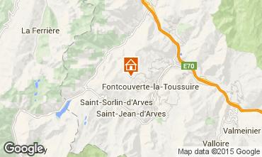 Map La Toussuire One-room apartment 3184