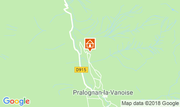 Map Pralognan la Vanoise Vacation rental 45684