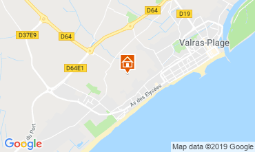 Map Valras-Plage House 119363