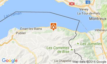 Map Evian les Bains Apartment 29378