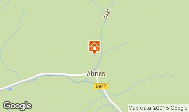 Map Abriès Chalet 69713