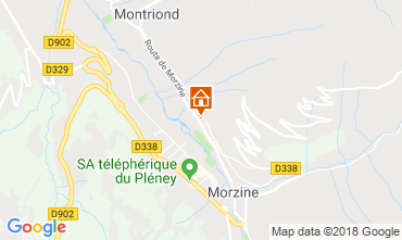 Map Morzine Apartment 28970