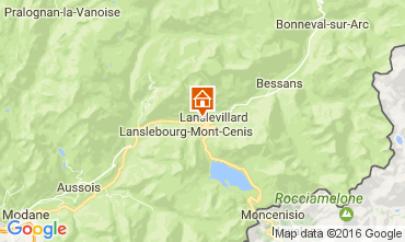 Map Val Cenis Apartment 49037