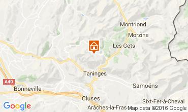 Map Praz de Lys Sommand Chalet 2355