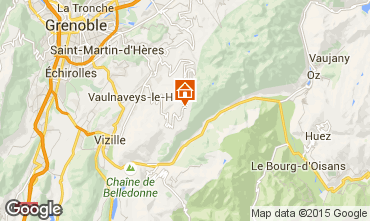 Map Chamrousse One-room apartment 66599
