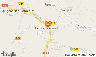 Map Ax Les Thermes One-room apartment 68397