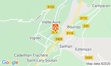 Map Saint Lary Soulan Apartment 4397