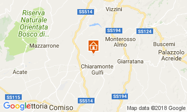 Map Ragusa Vacation rental 112832