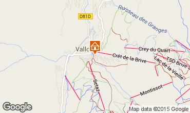 Map Valloire Apartment 27146