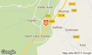 Map Saint Lary Soulan One-room apartment 28235