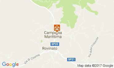 Map Campiglia Marittima Apartment 105072