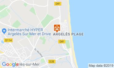 Map Saint Cyprien Plage Apartment 65474
