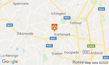 Map Bruges Villa 117314