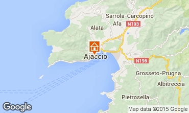 Map Ajaccio One-room apartment 75768