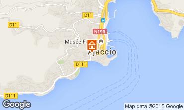 Map Ajaccio One-room apartment 75768