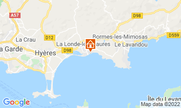Map La Londe les Maures Apartment 61806