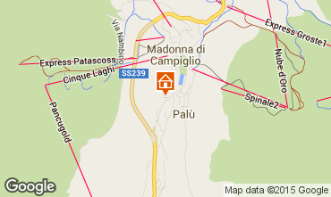 Map Madonna di Campiglio Apartment 81910