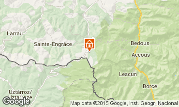 Map Arette La Pierre Saint Martin Apartment 100836