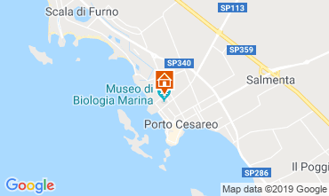 Map Porto Cesareo Apartment 83720