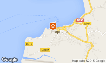 Map Propriano Apartment 100724