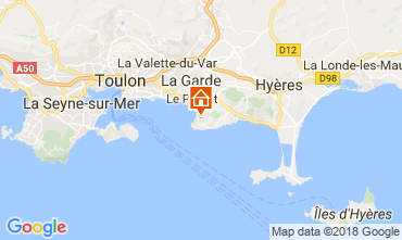 Map Hyères Vacation rental 113958