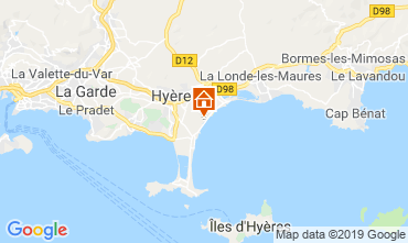 Map Hyères Mobile home 117992