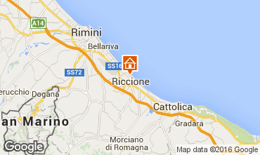 Map Riccione Apartment 48193