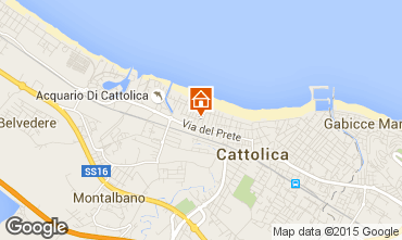 Map Cattolica Apartment 81423