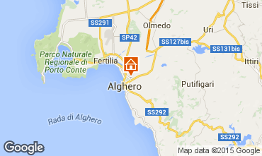 Map Alghero Villa 59944