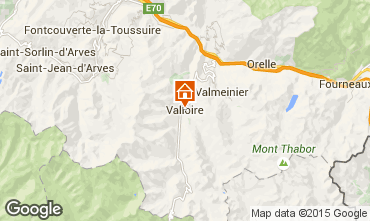 Map Valloire Apartment 63310
