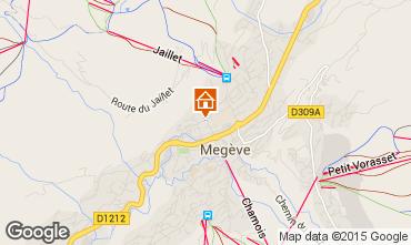 Map Megève Apartment 1470