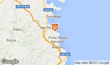 Map San Teodoro Apartment 75391