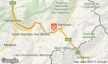 Map Chamonix Mont-Blanc Apartment 648