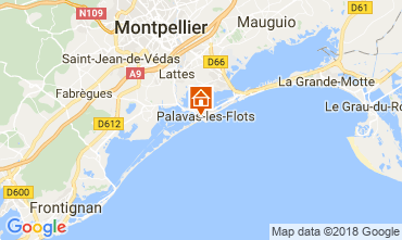 Map Palavas-les-Flots Apartment 17396