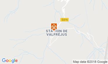 Map Valfréjus Apartment 73056