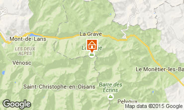Map La Grave - La Meije Apartment 39406