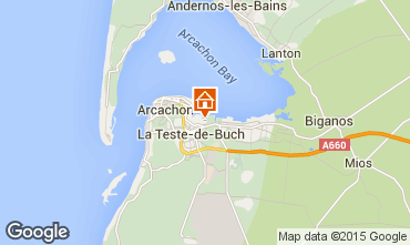 Map Arcachon House 6632