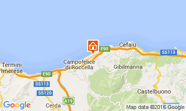Map Cefalù Villa 76789