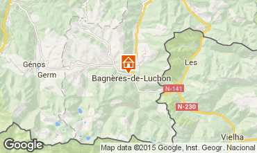 Map Luchon Superbagneres Apartment 60548