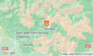 Map Orcières Merlette Vacation rental 81230
