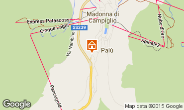 Map Madonna di Campiglio Apartment 79472